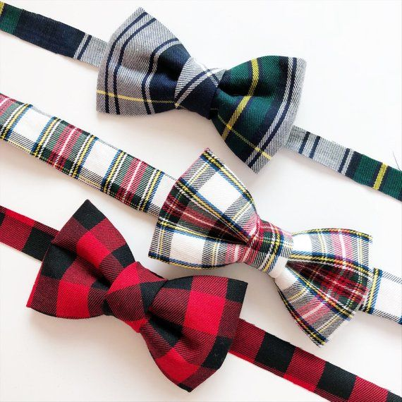 Christmas Bow Ties - Holiday Bow Ties for Boys - Plaid Bow ...