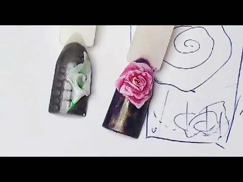 Юлия Билей - Быстрая лепка розы на ногтях / Julia Biley - Fast sculptin...