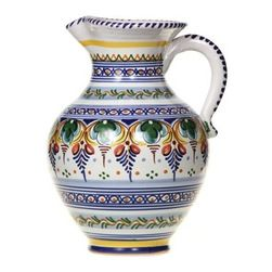 "Spanish Majolica 10"" Agua Pitcher - Spanish Majolica 10"" Agua Pitcher"