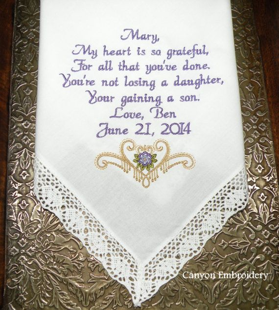 Wedding Gifts For Mother In Law: 17 Best Images About Mother In Law Wedding Handkerchief My