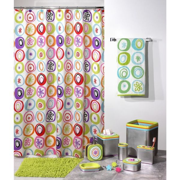 U0027All That Jazzu0027 Shower Curtain U0026 Hook Set   Multiple Options Available