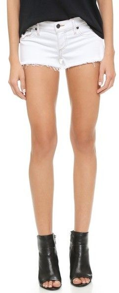 $158, True Religion Joey Cutoff Shorts. Sold by shopbop.com. Click for more info: https://lookastic.com/women/shop_items/233365/redirect