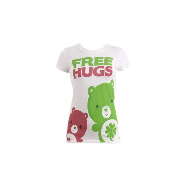 Bear Hug Tee - Teen Clothing by Wet Seal ❤ liked on Polyvore