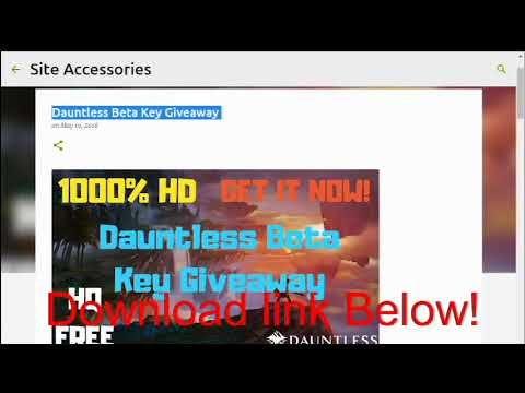 Dauntless Beta Key Download | gifts | Desktop screenshot