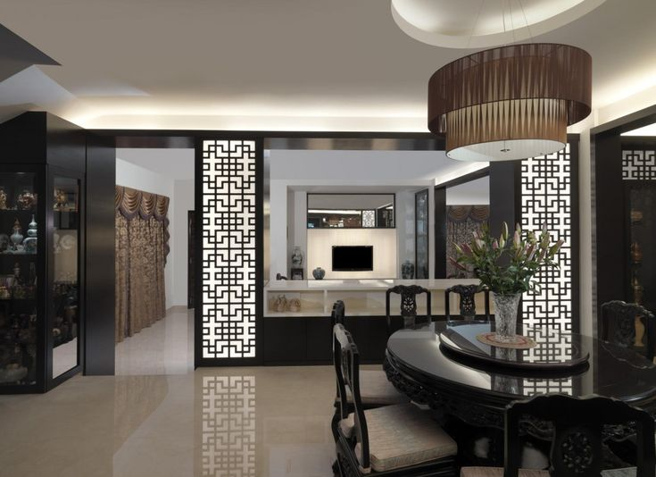 Love The Lighted Screen Panels Thong Soon Green Traditional Asian Dining Living Room