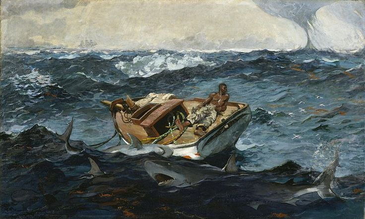 Winslow Homer, The Gulf Stream, 1899, oil on canvas, 71.4 x 124.8 cm, The Metropolitan Museum of Art, New York.