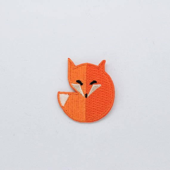Fox iron on patch