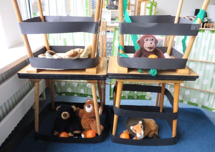 Rollenspel de dierenverzorger, thema dierentuin, kleuteridee.nl , zookeeper role play.