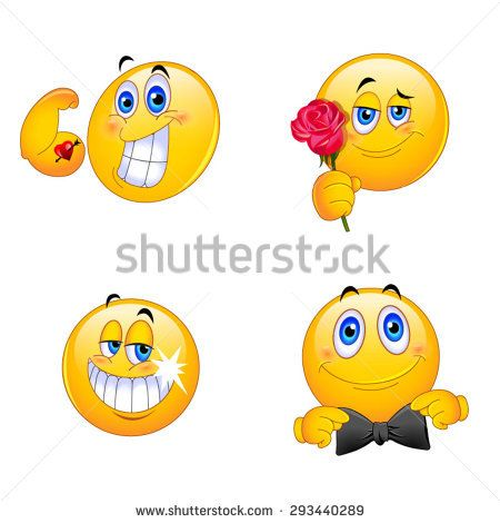 4 Emoji Smiley Faces