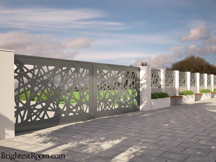 Dashing Lights - Mild Steel Laser Cut Gate and Fence - Gate+Fence