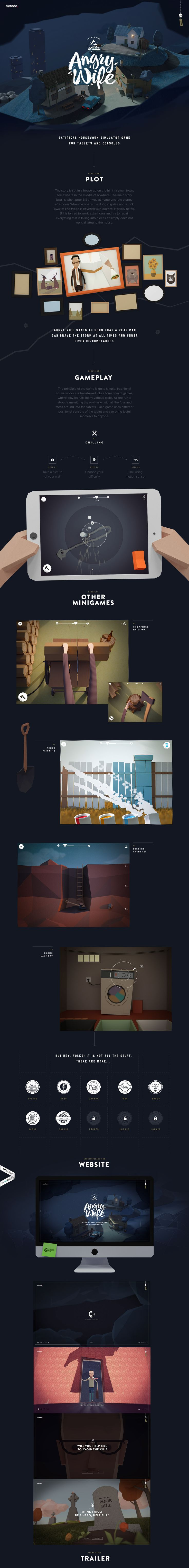 Angry Wife Game on Behance