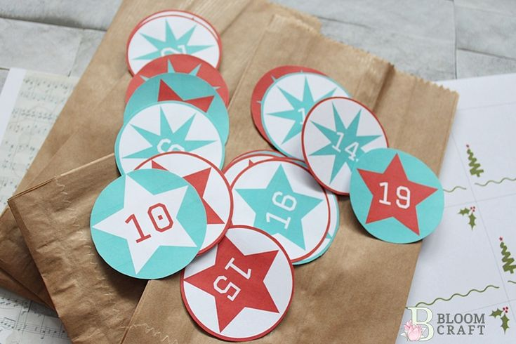 advent calendar; freebies; printable;