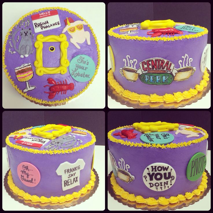 Friends TV show themed cake. Might use this idea for my little sister's bday cake! She is obsessed with this show!! Awesome!!