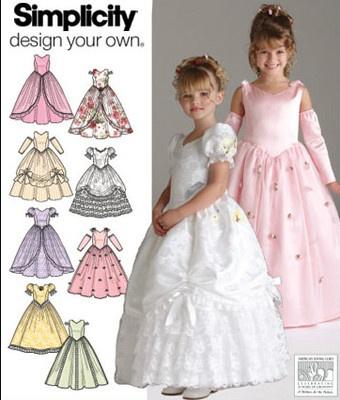 Bridal Wedding Flower Girl Easter Dress Sewing Pattern Simplicity 4764 3 4 5 6   eBay