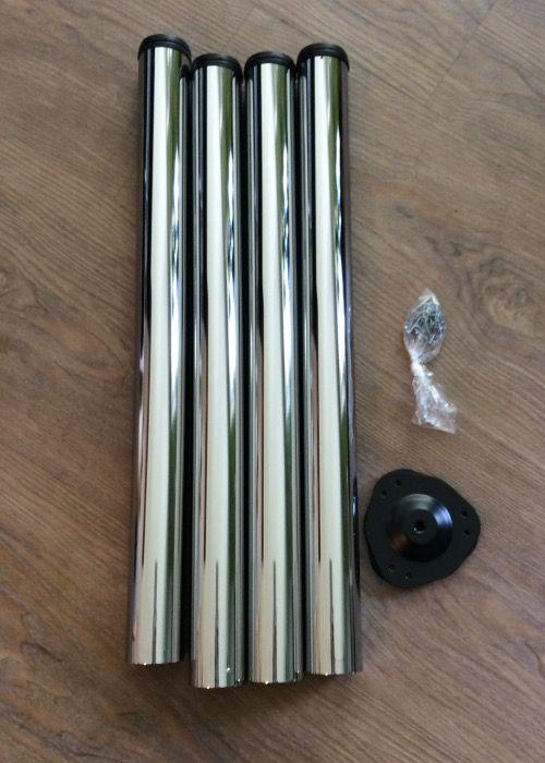 SO-TECH® - 4er Set SO-TECH® Tischbeine Ø 60 mm Chrom poliert Höhe 710 mm