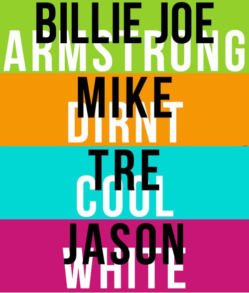 Green Day! I love how this INCLUDES JASON WHITE he has been a legit member since ¡Uno!