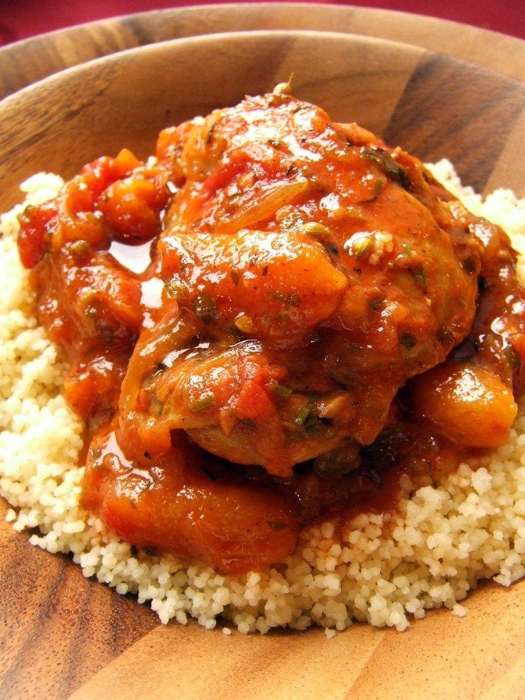 Marokkói sárgabarackos csirke | Fűszer és Lélek