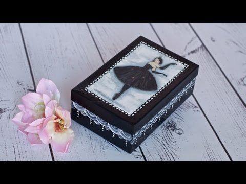 Decoupage box ballerina. Video and photo MK. - Decoupage tutorial - box with ballerina