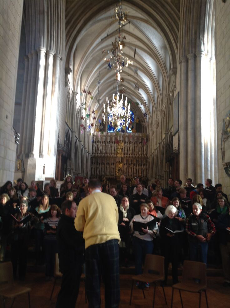 Rehearsing for our performance of Messiah at Southwark in London.