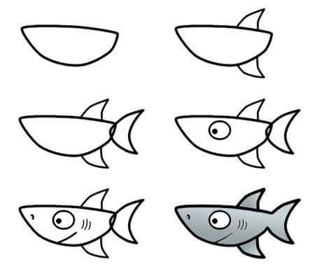 how to draw the ocean easy