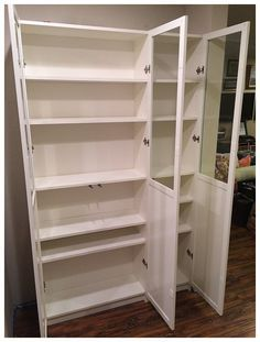 ikea billy bookcase as pantry_0025