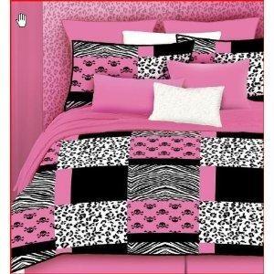 Veratex Pink Skulls Bed-In-A-Bag Micro-Fiber, Pink/Black/White: Bed In A Bag Micro Fiber, Girl, Bedinabag, Veratex 457173, 457173 Pink, Pink Skulls, Skulls Bed In A Bag, Bedroom Ideas