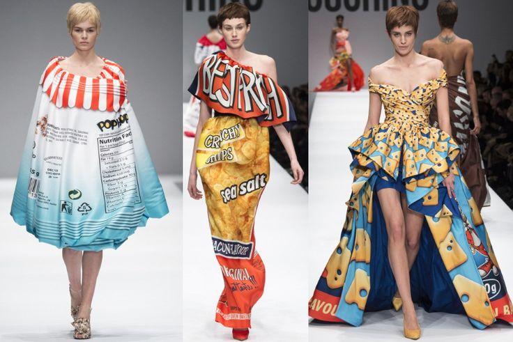 Moschino by Jeremy Scott - Fall Winter 2014 - Crispy chips fashion trend