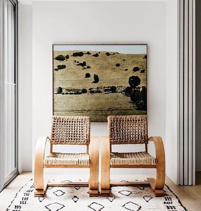 The French Modernist Chairs make a #dynamic duo. (Shop the look with the link in bio!) #accentchair #design #exclusive #wisteriastyle : @apdesignhouse