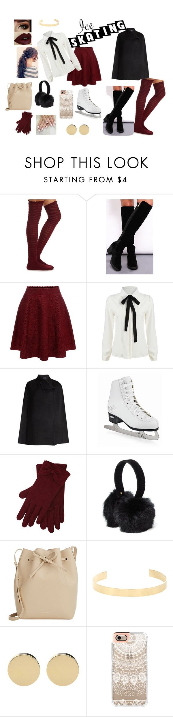 Ice Skating by ellie-lopez on Polyvore featuring Joseph, Charlotte Russe, Alexander McQueen, Dolly Rocka, Mansur Gavriel, Jennifer Fisher, Casetify, Surell, M&Co and women's clothing