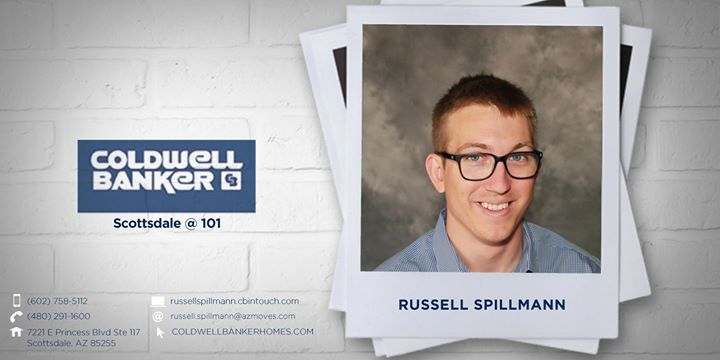 Please help us welcome Russell Spillmann to Coldwell Banker Residential Brokerage!   He can be reached at (602) 758-5112.  #ColdwellBankerArizona