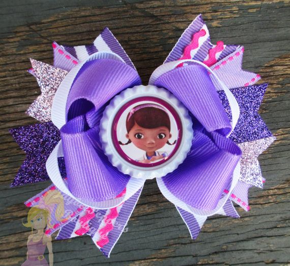 Hey, I found this really awesome Etsy listing at http://www.etsy.com/listing/152574731/doc-mcstuffins-hair-bow-girls-cute