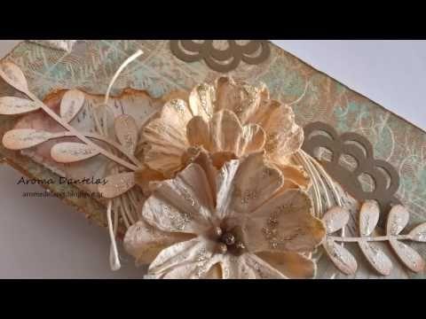 Άρωμα Δαντέλας: DIY Simple mixed media tag
