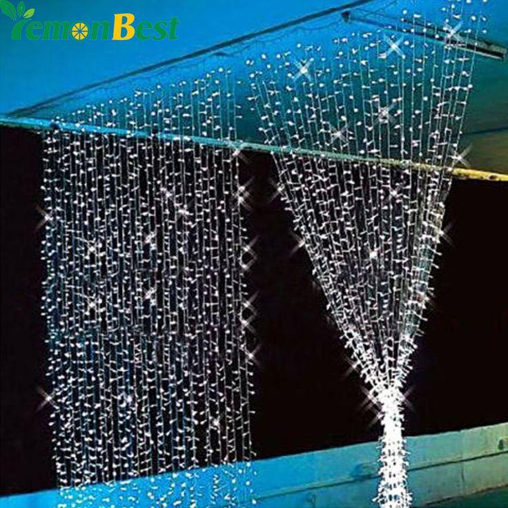 3 М х 3 М 300 LED Открытый Партия Рождество рождество Строка Фея Свадебное Занавес Света Освещение 8 Режима купить на AliExpress