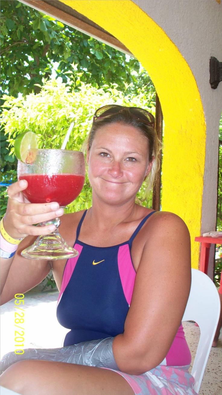 daughter having fun in cancun