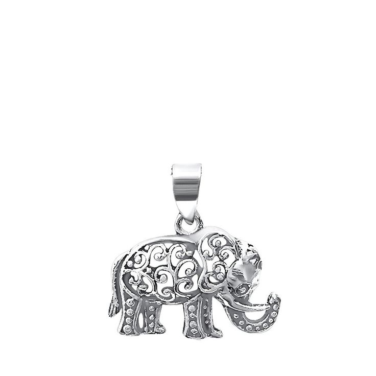 Elephant Pendant 925 Sterling Silver Oxidized -- Check out ...