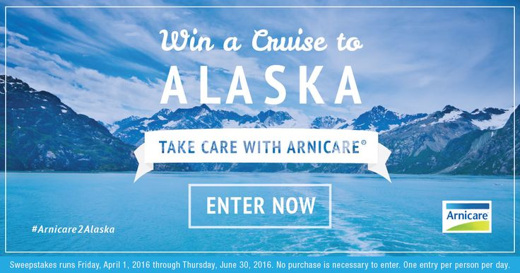 Just made my daily entry for #Arnicare2Alaska #sweeps to win an Alaskan cruise!  http://woobox.com/qbxbyn/h3b5wj