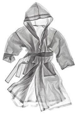 Linen Terry Robe - contemporary - bath and spa accessories - Matteo