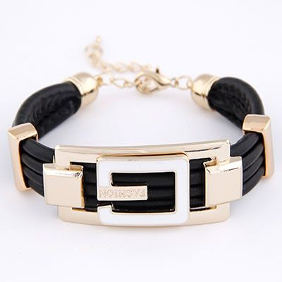 G-Fashion leather bracelet in black  Code: A28550  Price: R40