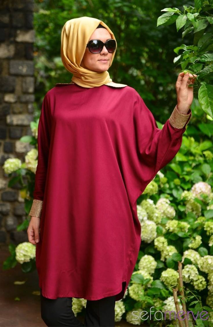 Tunics All Day 10126-07 Dark Claret Red