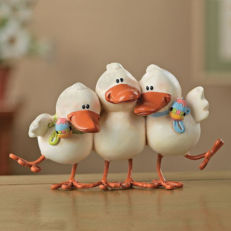 Playful Ducks Porcelana fria polymer clay masa flexible pasta francesas cake topper modelado modelling 3d figurine