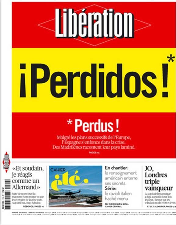 """El Periódico de Extremadura: Portada de mañana del diario francés """"Liberation"""""""