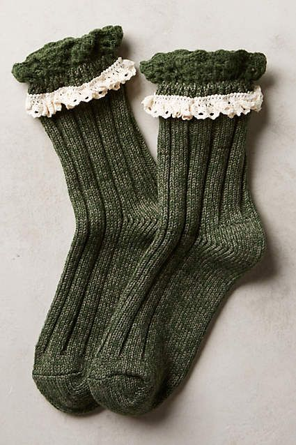 Marble & Lace Crew Socks - anthropologie.com Forever 21 also has socks like this!