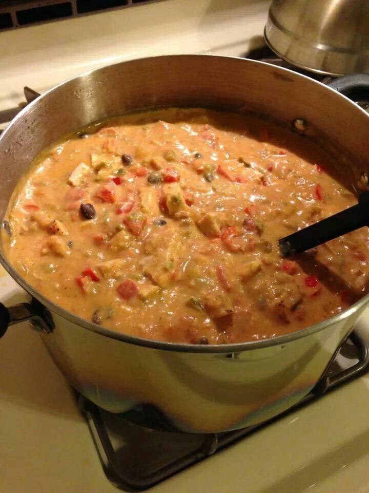 Chicken jalepeno popper soup