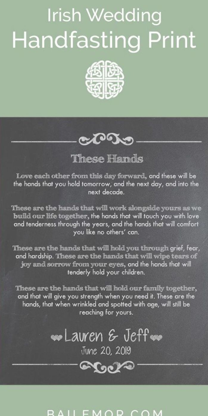 Irish Wedding Gift Traditional Handfasting Ceremony Vows Canvas Print This Personalized Wedding Vow Irish Wedding Irish Wedding Gifts Gifts For Wedding Party