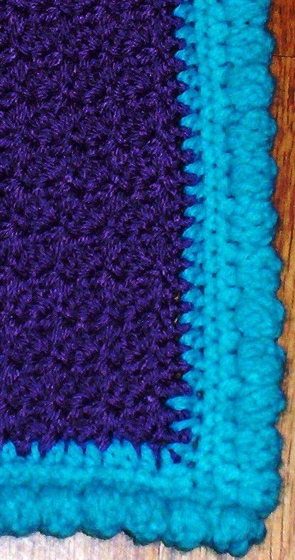 how to finish crochet blanket edges