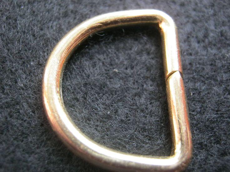 25 Stück D-Ringe,Messing,Breite ca.27 mm,Höhe ca.20 mm,Neu,Lübecker Knopfmanufaktur von Knopfshop auf Etsy