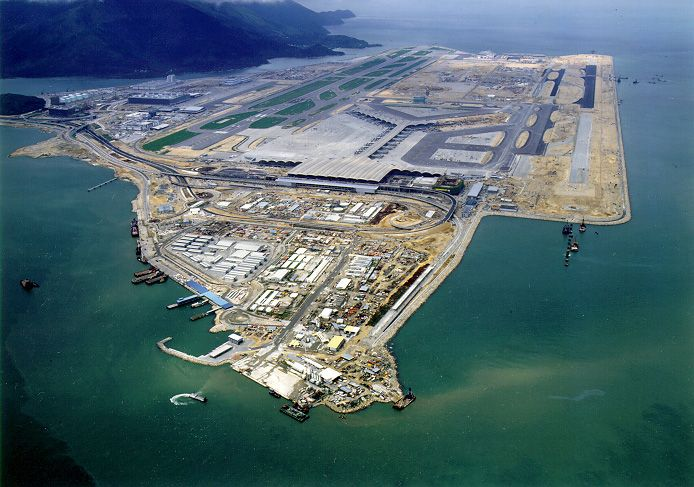 HONG KONG International Airport is the main airport in Hong Kong. It is located on the island of Chek Lap Kok, which largely comprises land reclaimed for the construction of the airport itself.