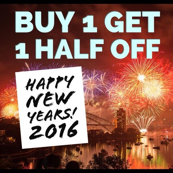 Buy One Get One Half Off Sale!!! Time to ring in the new year, the right way! Purchase an item and get half off a second item of equal or lesser value! Other