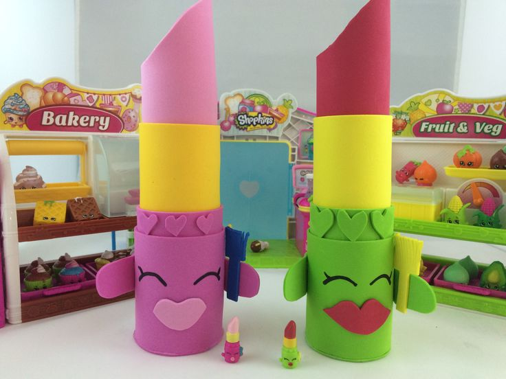 SHOPKINS Lippy Lips Party Favors! So Cute! DIY tutorial is on YouTube http://youtu.be/CQCv3q3-fdY