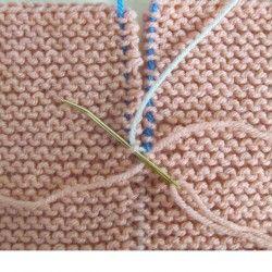 Technique | Garter stitch seams invisible join tutorial